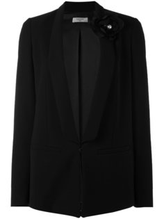 пиджак с брошью в виде цветка Lanvin