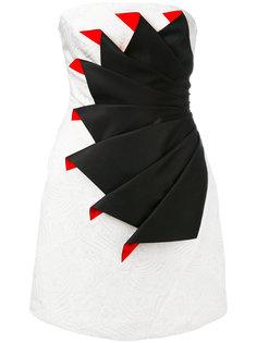 коктейльное платье без бретелей со складками Capucci