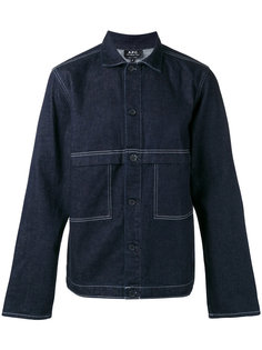 джинсовая куртка с контрастной строчкой A.P.C.