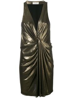 металлизированное платье Saint Laurent