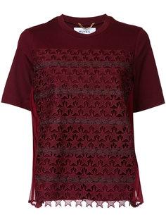футболка с ажурной отделкой звездами Muveil