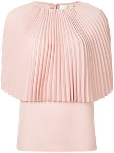 блузка-кейп с плиссировкой  Sara Battaglia