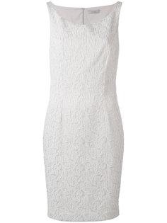 жаккардовое платье с вырезом-лодочка D.Exterior