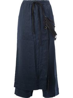 укороченные брюки с фартуком на ремешках Song For The Mute