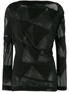 полупрозрачная блузка с отделкой в виде флажков Vivienne Westwood Anglomania