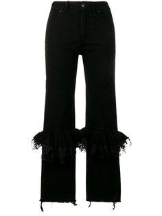 расклешенные джинсы с гофрированием на коленях Preen By Thornton Bregazzi