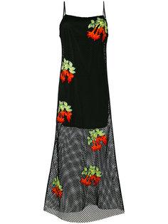 сетчатое платье с цветочной вышивкой House Of Holland