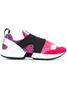 кроссовки без шнуровки с абстрактным принтом Ea7 Emporio Armani