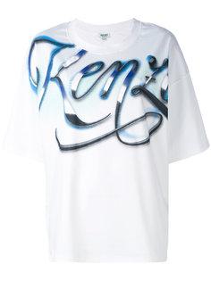 футболка свободного кроя Kenzo Lyrics Kenzo