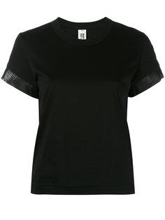 футболка с контрастной отделкой Comme Des Garçons Noir Kei Ninomiya