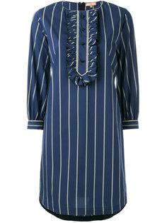 полосатое платье-рубашка  Fay