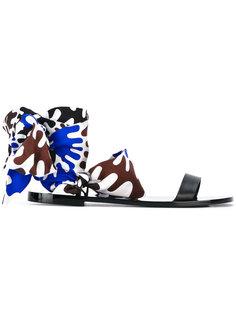 сандалии с завязками на щиколотке Emilio Pucci