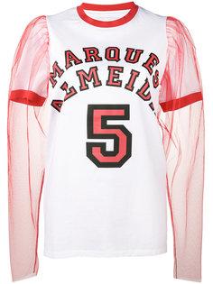 футболка с пышными прозрачными рукавами Marquesalmeida