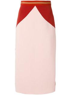 юбка в стиле колор-блок Roksanda