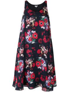 платье без рукавов с цветочным принтом Kenzo