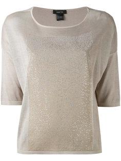 футболка с блестящей отделкой Avant Toi