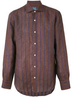 рубашка с вышивкой в полоску  Barba