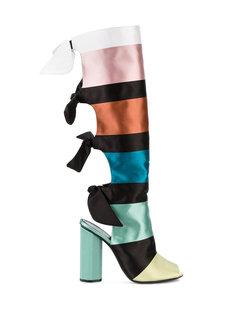 ботинки с лентами колор-блок Marco De Vincenzo