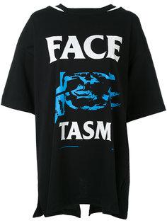 футболка бойфренда с графическим принтом Facetasm