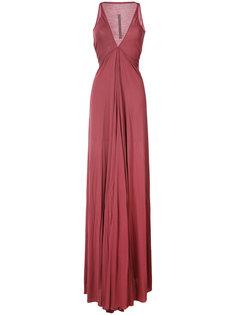 драпированное платье с глубоким вырезом Venetian Rick Owens Lilies