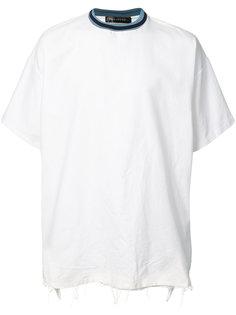 футболка с контрастным воротом Longjourney