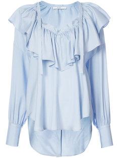 блузка с оборкой и V-образным вырезом  Tome
