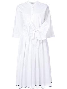 платье миди с бантом спереди  Tome