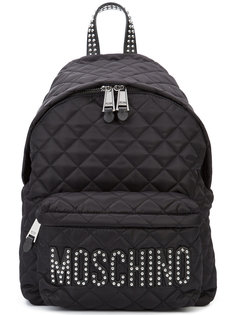 стеганый рюкзак с логотипом из заклепок  Moschino