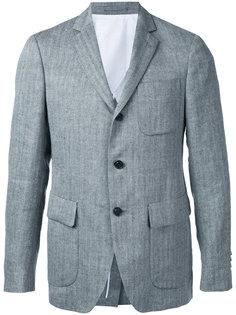 фактурный пиджак в полоску Wooster + Lardini