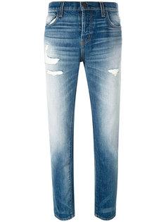 джинсы прямого кроя с потертой отделкой Current/Elliott