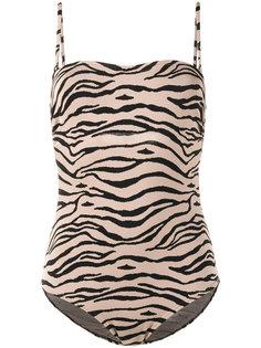 слитный купальник с тигровымпринтом Prism