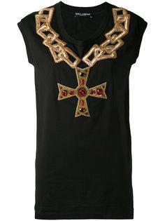 топ с цепочным вышитым узором Dolce & Gabbana