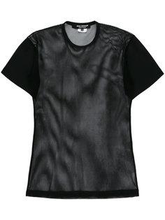 футболка с прозрачными вставками Junya Watanabe Comme Des Garçons