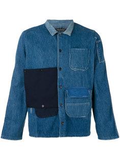 джинсовая рубашка в стиле пэчворк Longjourney