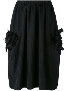 юбка с цветочной аппликацией Comme Des Garçons Comme Des Garçons