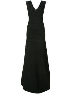 платье с пайетками открытой спиной Hervé Léger