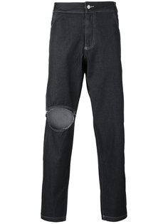 джинсы свободного кроя с рваной отделкой Telfar