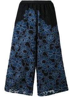 укороченные брюки с цветочной вышивкой Antonio Marras
