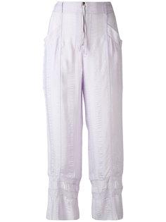 укороченные полосатые брюки Philosophy Di Lorenzo Serafini