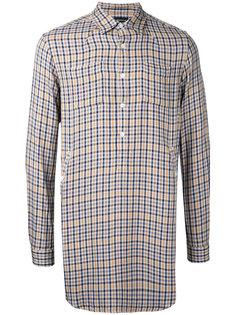 удлиненная клетчатая рубашка Undercover