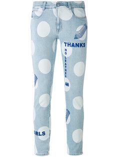 джинсы с рисунком в горох Stella McCartney