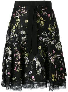 юбка с цветочным принтом Giambattista Valli