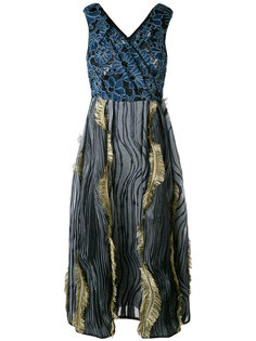 платье с бахромой Antonio Marras