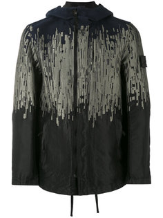 куртка с капюшоном и абстрактным узором Stone Island Shadow Project