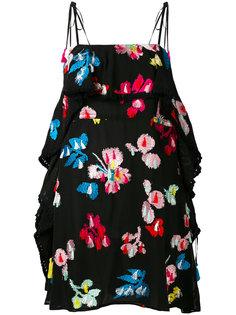 мини-платье с вышивкой Tanya Taylor