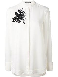рубашка с отделкой в виде осьминога Alexander McQueen