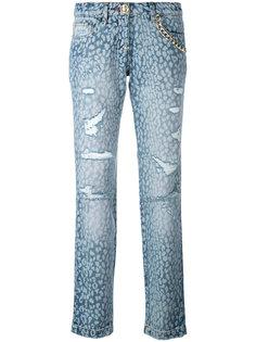 джинсы с анималистичным узором Philipp Plein