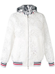 куртка с капюшоном  и вышивкой Moncler Gamme Rouge