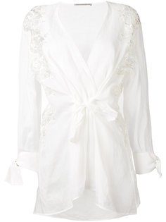 блузка с завязками Ermanno Scervino