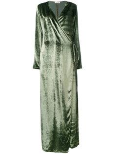 макси платье с запахом Attico